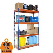 Heavy Duty Garage Shelving Storage Racking Blue & Orange 400KG UDL