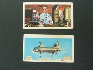 Barratt - Thunderbirds ( 1967) - Cards # 22 and 49 - Fair