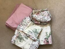 Reversible Double Duvet Cover +4 Cases Country Roses  Valance + Sheet Included
