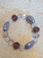 /purple tone beads Fashion Jewellery Bracelet pink