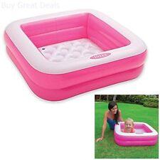 Intex Play Pool Baby Inflatable Kiddie Swimming Pool Box Square Pink