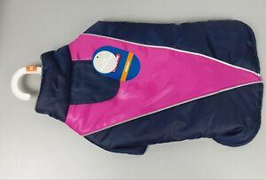 Top Paw Pet Dog Jacket Coat Navy/Pink Reflective Stripe Medium NEW FREE SHIPPING