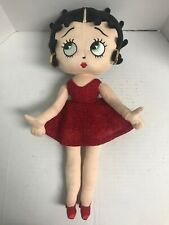 Betty Boop Fabric Doll Plush Red Dress And Shoes