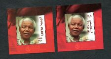 2018- Libya- Tunisia - Centenary of Nelson Mandela- Join issue- Perforated Block