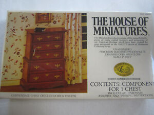 The House of Miniatures Chippendale Chest @1750-1790. Kit New Sealed. #40009