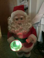 "Animated 26"" H Lighted Bell Santa Claus"