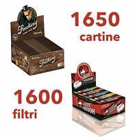1650 CARTINE LUNGHE SMOKING BROWN + 1600 FILTRI ENJOY FREEDOM IN CARTONCINO