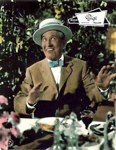 Gigi Aushangfoto Portrait handcoloriert Maurice Chevalier, Leslie Caron, Jourdan