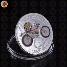 WR Bultaco Motorcycle Souvenir Silver Coins Sherpa T Motor Design Collectible