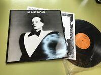 Klaus Nomi lp S/T 1st orig rca pl37556 vinyl rare '81 art new wave france bowie!