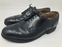 Allen Edmonds Benton 3408 Mens Black Cap Toe Orthotic Oxford Dress Shoes Sz 10
