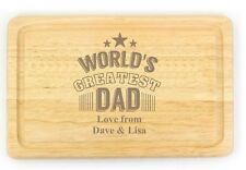 Personalised Chopping Board Cheese Board Engraved Fathers Day Gift , Dad Gifts