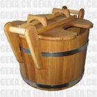 Wooden Sauna Oak Steamer Ladle 23L - SPA / Russian Bath Pool Jacuzzi Worldwide