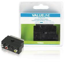Adaptateur audio-vidéo péritel commutable à connecteur péritel mâle vers 3x rca