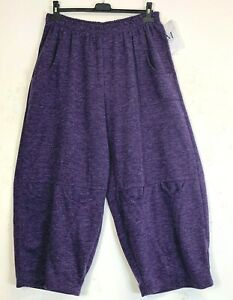 Baggy Pants/Trousers Lagenlook 50% Wool Italian 6 Colours One Size: PLus