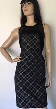 Carmen Marc Valvo Collection $540 NWT size 4 Black and Metallic Silver