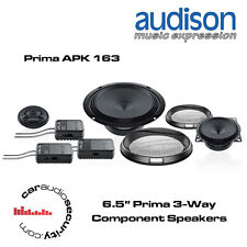 "Audison APK163 - 16.5cm 6.5"" Prima 3-Way Component Speakers 375W 6 Speaker Set"