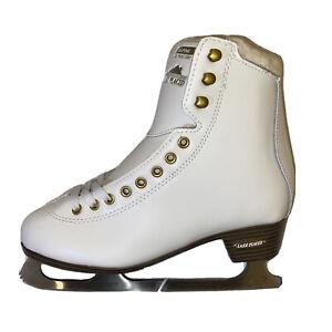 Lake Placid Alpine 900 Women's Figure Ice Skate White Size 6 Skating New