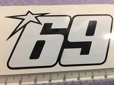 69 Nicky Hayden decals stickers for Race, Track Bike, Toolbox PAIR #NH69