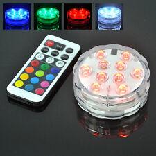 4W UFO 10 RGB LED Aqua Unterwasserlicht  Aquarium Farbwechsel Beleuchtung pool B