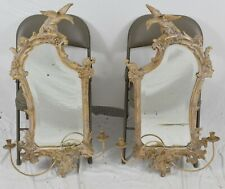 Pair of Friedman Brothers Federal Mirrors w Eagle, Candle Scones & Beveled Glass