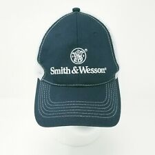 Smith & Wesson Trucker Hat Baseball Cap Snap Back Blue White Gray Pre-Owned