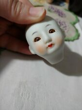 Antique Vintage Bisque Asian Doll Head Chinese Japanese Signature miniature Doll
