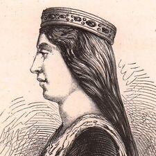 Portrait XIXe Valentine Visconti Valentine de Milan Duchesse d'Orléans