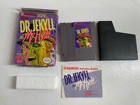 NES Dr Jekyll & Mr Hyde Nintendo Game CIB Complete w/ Box Manual Cart Styrofoam