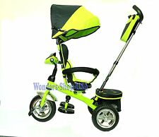 New 4 in 1 Trike Kid Tricycle for Toddler Adjustable Seat Stroller Ride On GREEN