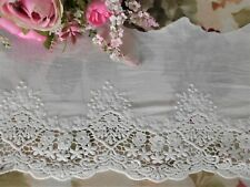 TRAUMHAFTE SPITZE WEISS ROSE VINTAGE SHABBY CHIC 4,5 CM