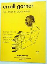 ERROLL GARNER Songbook Five Original PIANO SOLOS Criterion Publ. JAZZ  Piano