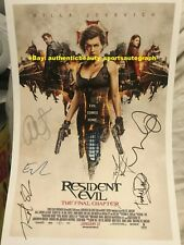 RESIDENT EVIL THE FINAL CHAPTER MOVIE MILLA JOVOVICH ALICE SIGNED 12x18 REPRINT
