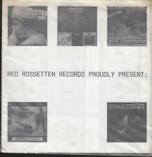 """Red Rossetten Records Proudly Present:- V.A. - 7""""EP - Promo"""