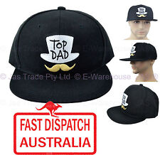 Snapback Baseball Fathers Day Birthday Gift Moustache Top Dad Hat Cap Black