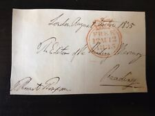 THOMAS PERRONET THOMPSON - MP & SIERRA LEONE GOVERNOR - SIGNED ENVELOPE FRONT