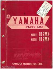 1972 Yamaha DT2MX (250cc) / RT2MX (360cc) Two Stroke Motorcycle Parts Manual