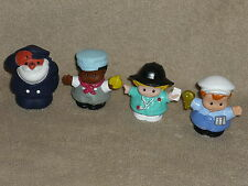 Fisher Price Little People Worker Lot: Ice Cream Driver, Nurse EMT, Engineer
