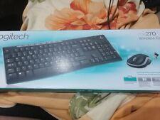 Logitech MK270 Wireless Tastatur + Maus Funk Kabellos Keyboard Deutsches Layout