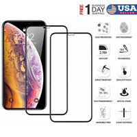 For iPhone 11 Pro X XS XR Max Screen Protector Tempered Glass Full Coverage Film