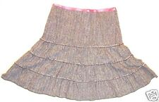 American Eagle size 8 knee length Tiered lined boho wool blend skirt