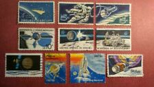 US Topical Postage Stamps - Space and Exploration - Lot of 10 Different Used
