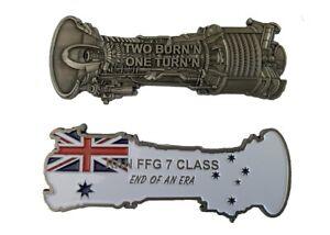 LM2500 Gas Turbine FFG 7 Class End of an Era Coin