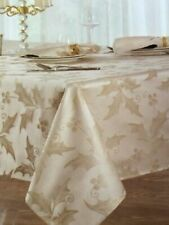 "Villeroy & Boch Royal Holly Beige Shimmer Damask Oblong Tablecloth 60"" x 144"""