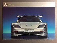 1992 Mercedes Benz C 112 Experimental Sports Car Showroom Sales Folder RARE!!