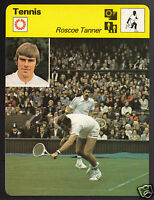 ROSCOE TANNER American Tennis Player Photo 1979 SPORTSCASTER CARD 60-02