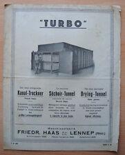 █ Pub Séchoir Tunnel TURBO Friedr. Haas Lennep Tissage █