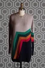 NWT Boy by Band of Outsiders Aztec Tunic Sweater Stripe Merino Wool 4 (US 8)