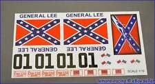 GENERAL LEE RC Car Tamiya Decals Stickers CUT Kit 1/16 Scale Losi Mini Xray HPI