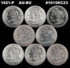 8 Coin Lot___1921-P Morgan Silver Dollars__AU/BU___#1015KC23